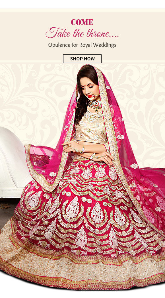 Opulent Abaya Suits, Resham Sarees, Lehengas, Sherwanis & more for Royal Weddings. Shop Now!