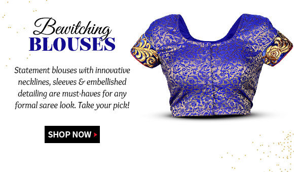 Collection of Statement Blouses with innovative styling & embellishments. Shop!