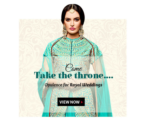 Opulent Abaya Suits, Resham Sarees, Lehengas, Sherwanis & more for Royal Weddings. Shop!