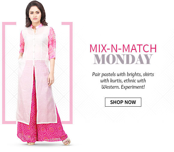 Fusion Wear in Mix-n-Match range of skirts, tunics, dupattas, jackets & more. Shop Now!