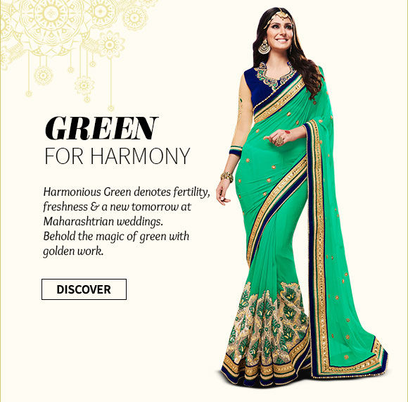 Green Bridal Ensembles in Half-n-Half Sarees, Resham work Suits, Circular Lehengas & more. Shop Now!
