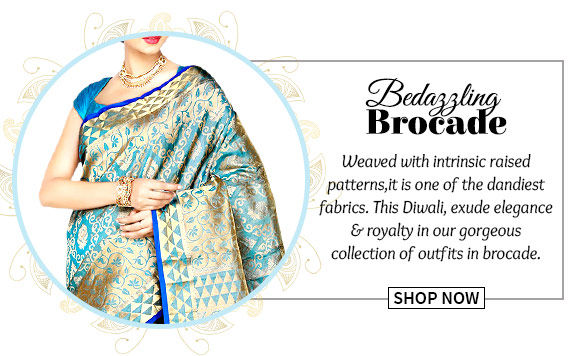 Select from our wide array of Sherwanis, Lehenga Cholis, Sarees & more in brocade. Buy Now!