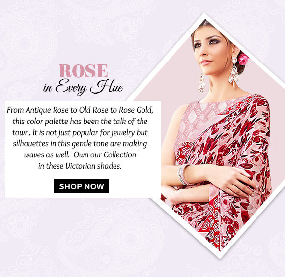 Select from our beautiful range of outfits in Old Rose hue. Buy Now!