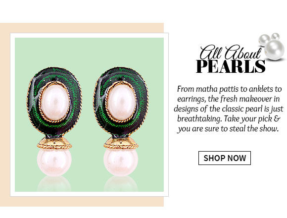 A gorgeous Collection of Pearl Work Accessories. Buy Now!