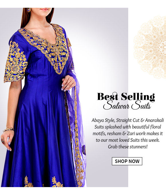 Abaya Style, Straight Cut, Anarkali Suits& more. Buy Now!