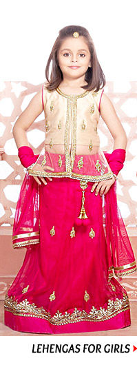 Pick from a colorful collection of Lehengas for Girls. Buy now!