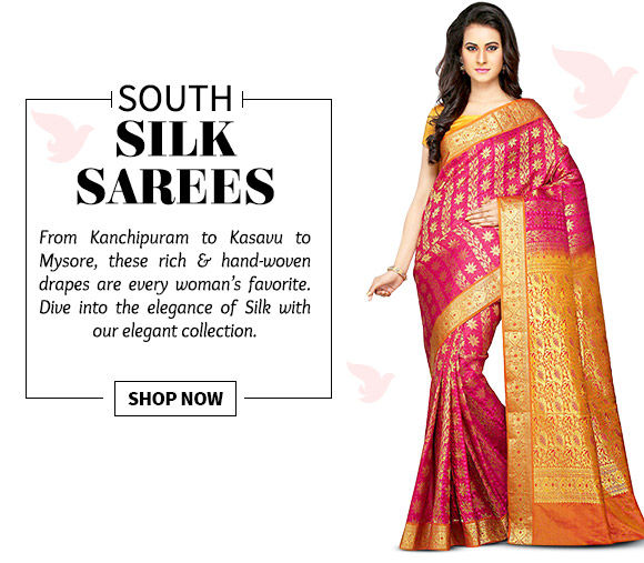 A wide range of Silk Sarees in Kanchipuram, Kasavu, Mysore, Kerala & more. Buy Now!