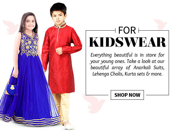 Select from our striking range of Kidswear. Buy Now!