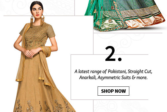 A myriad of beautiful Salwar Kameez. Buy Now!