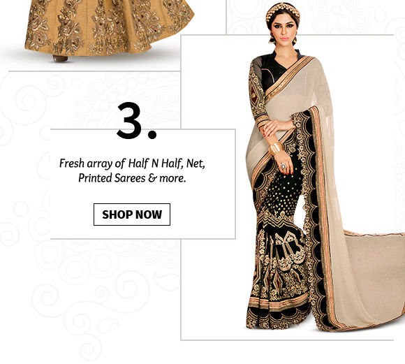 Pick your favorite from our inspiring range of Sarees. Buy Now!