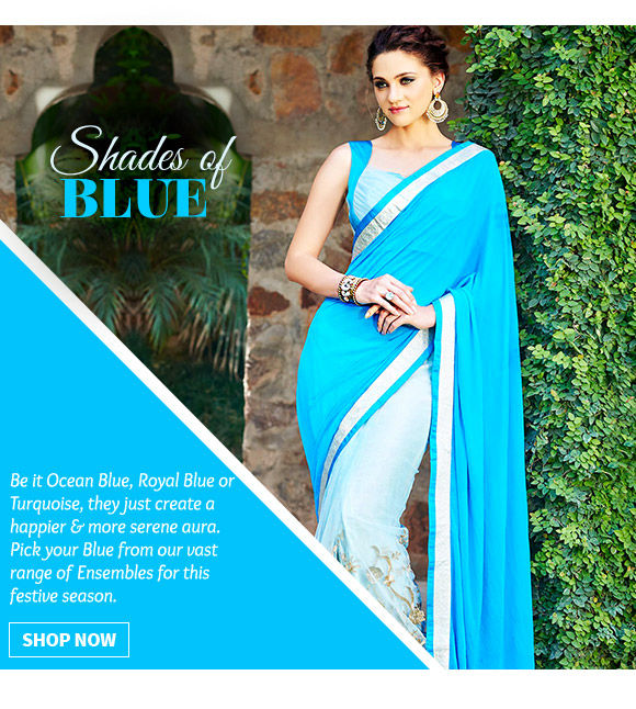 A beautiful collection of Ensembles in blue. Buy Now!