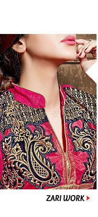 Embellished range of Attires with Stone, Zari, Resham, Mirror, Bead Work & more. Shop Now!