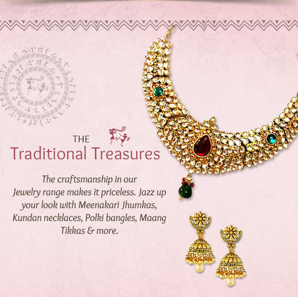 A range of Meenakari Jewelry, Jhumkas & more. Shop!
