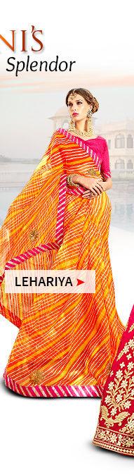Lehariya Print sarees. Shop!