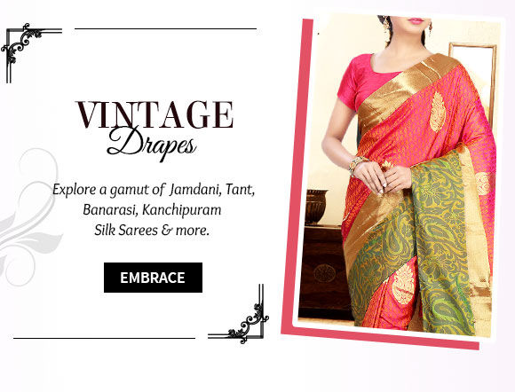 Select your favorite from our beautiful arrange of Handloom Sarees.