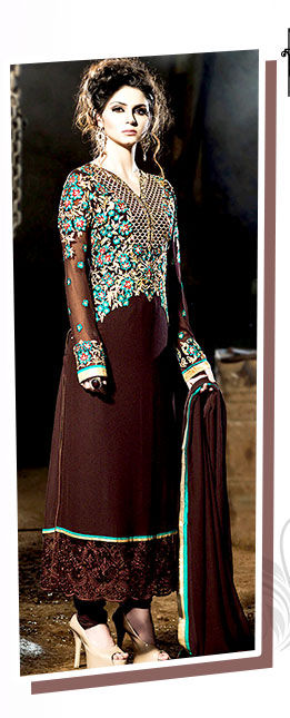 Choose from our beautiful Collection of Ensembles in brown hue. Buy Now!