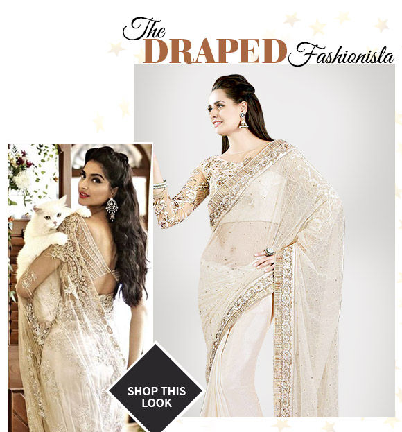 Pick your favorite from our Sonam Kapoor-inspired Sarees. Buy Now!