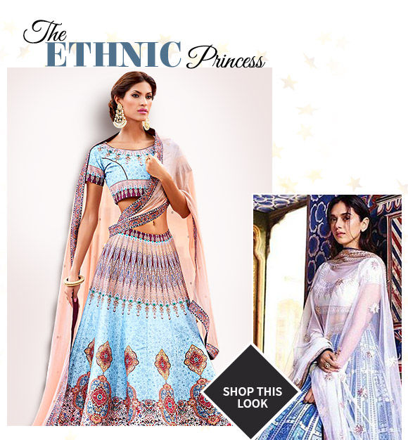 Select from our lovely collection of Aditi Rao Hydari -inspired Lehenga Cholis. Buy Now!