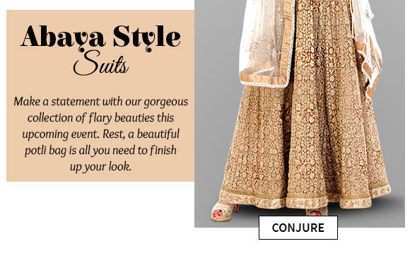Select from our beautiful collection of Abaya Style Suits. Buy Now!