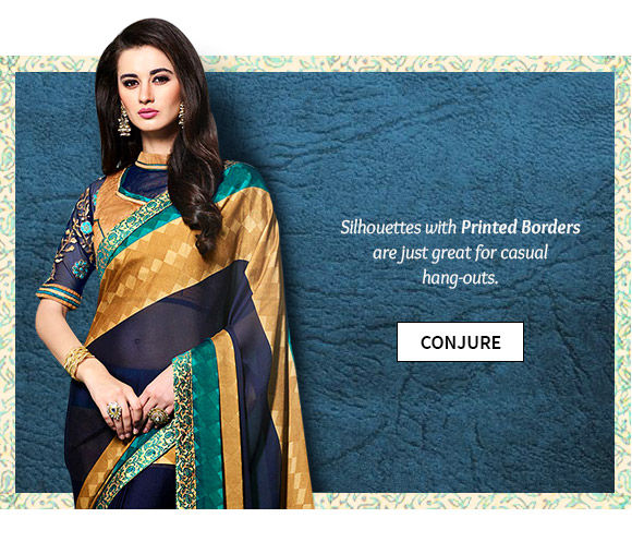 An inspiring aaray of Silhouettes with Printed Borders. Buy Now!