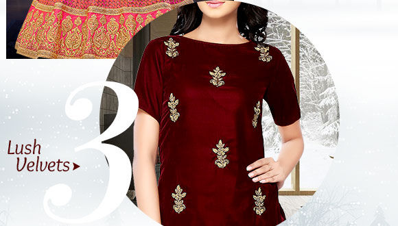 A myriad of Silhouettes in Velvet fabrics. Buy Now!