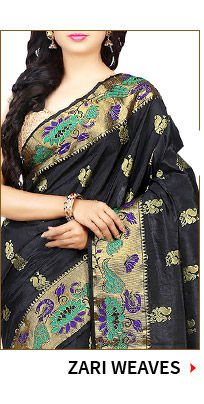 Zari Work and Weaves in Sarees, Skd, Lehenga and more. Shop!