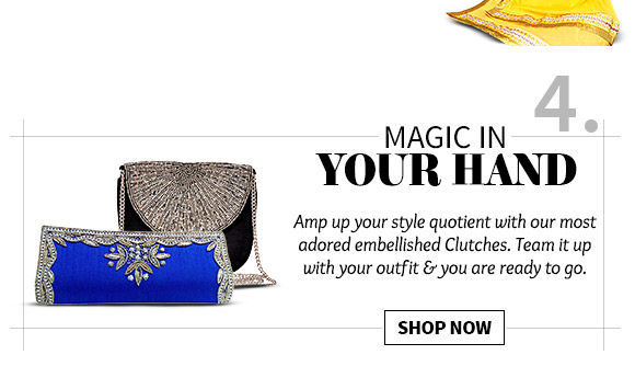 Choose from our beautiful array of Clutch Bags. Buy Now!