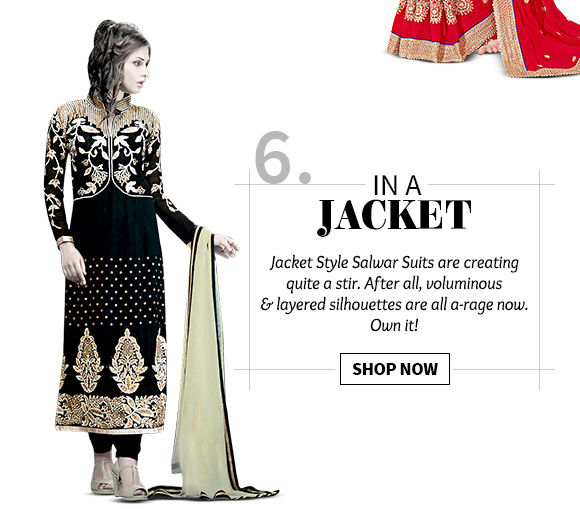 An inspiring Collection of Jacket Style Salwar Suits. Buy Now!
