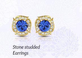 Stone Studded Earrings. Shop Now!