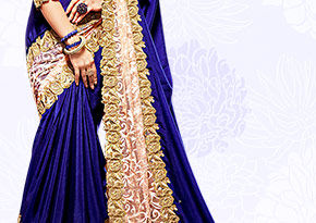 Chiffon & Net Saree with Embellished Zari. Shop Now!