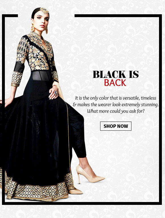 Pick your favorite from our lovely collection of Ensembles in black hue. BUY Now!