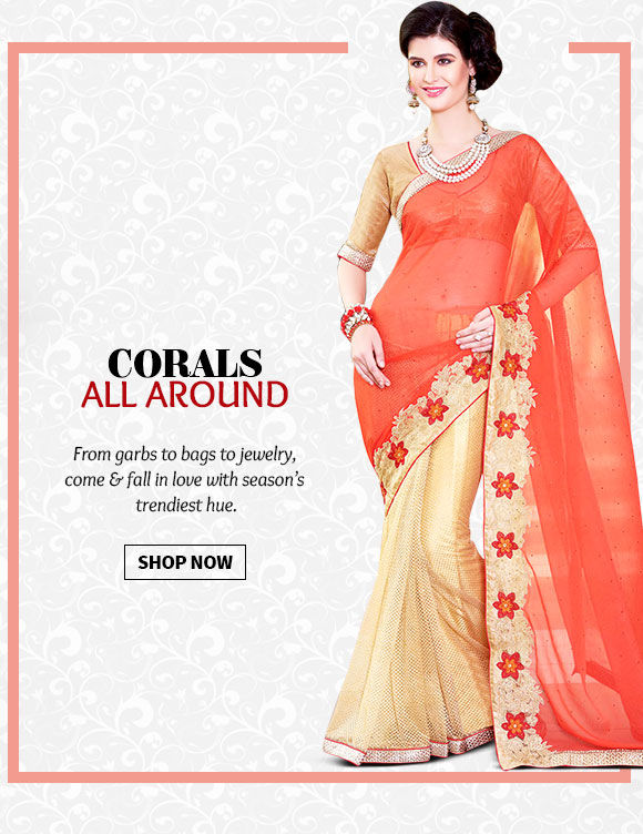 An inspiring range of Ensembles in Coral hue. Buy Now!