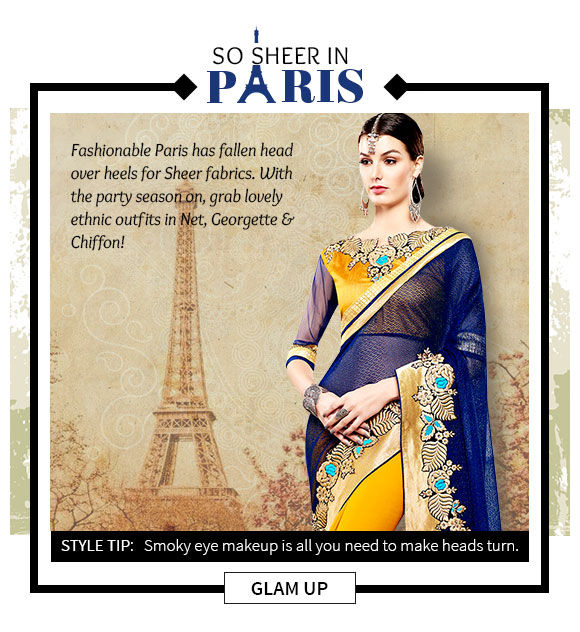 Choose from our stunning range of silhouettes in sheer fabric. Buy Now!