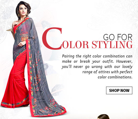 A myriad of Attires with perfect color combinations. Buy Now!