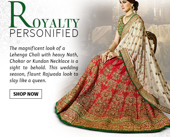 Steal the Rajwada look! Sarees, Salwar Kameez, Jewelry & more in store. Buy Now!