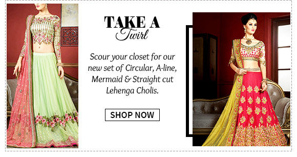 New Arrivals in Lehenga Choli Collection. Buy Now!