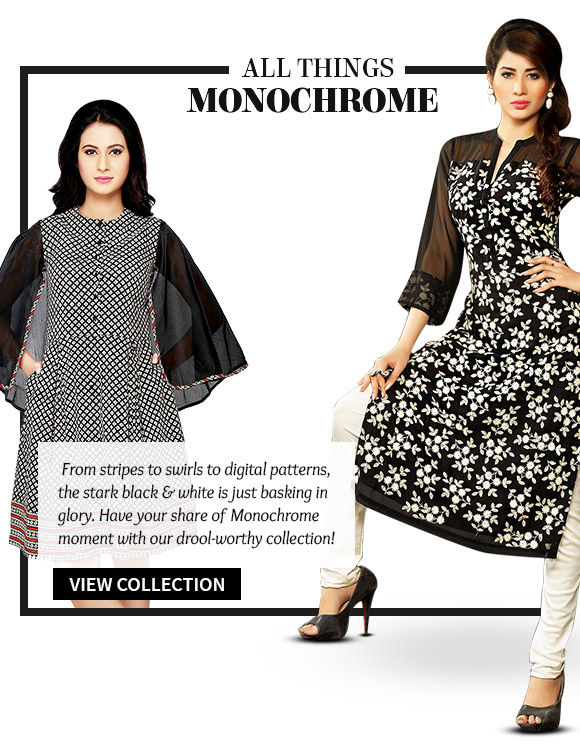Choose from our wide range of ensembles in Monochrome. Shop Now!