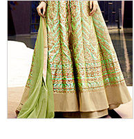 Select from our inspiring range of Art Silk Lehengas with Woven & Embroidered Kameez. Buy Now!