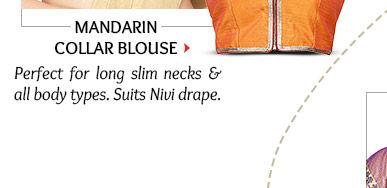Mandarin Blouse in Silk & Brocade. Shop Now!