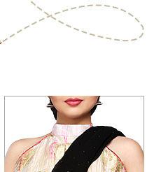 Halter Neck Blouse for women with slim shoulders. Shop Now!