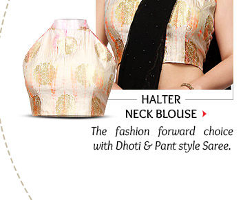 Halter Neck Blouse for women with slim shoulders. Shop Now!