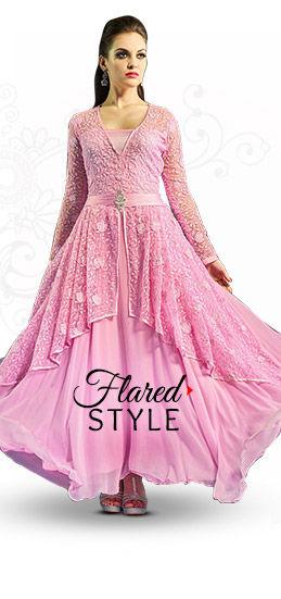 Sheers & Flares: Net Sarees, Anarkalis, Abaya style Suits & Circular Lehengas. Shop!