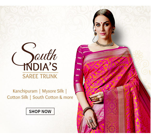 South Silk Sarees like Kanchipuram, Narayanpet, Gadwal & more for festive occasions. Shop!