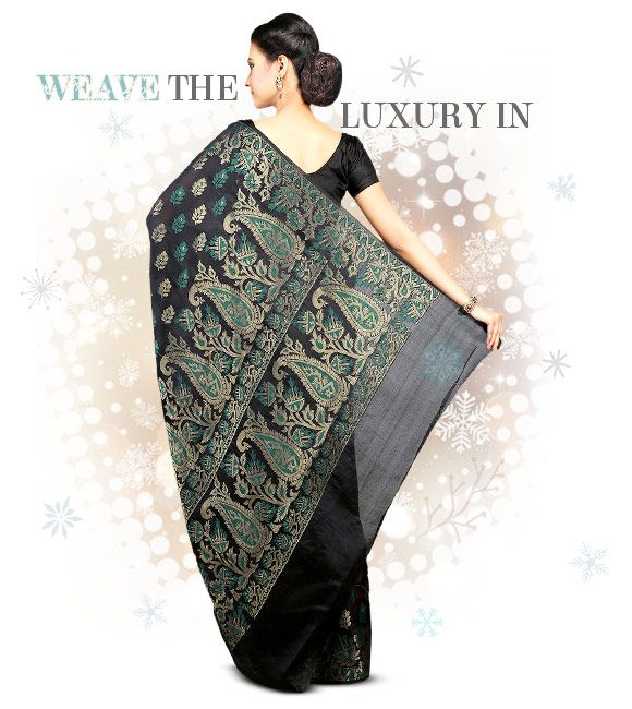 Woven Silk Sarees in myriad hues. Shop!