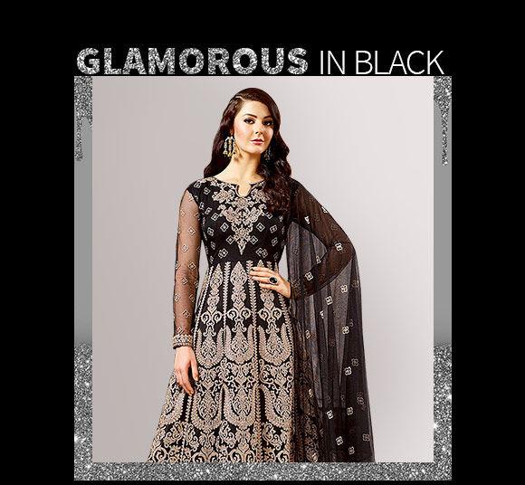 Black Salwar Suits like abaya & anarkalis. Shop!