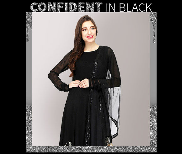 Black Plus styles in blouses, suits, lehengas and more. Shop!