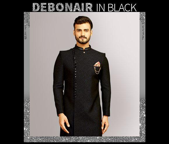 Black Kurta Pajamas, Sherwanis and more. Shop!