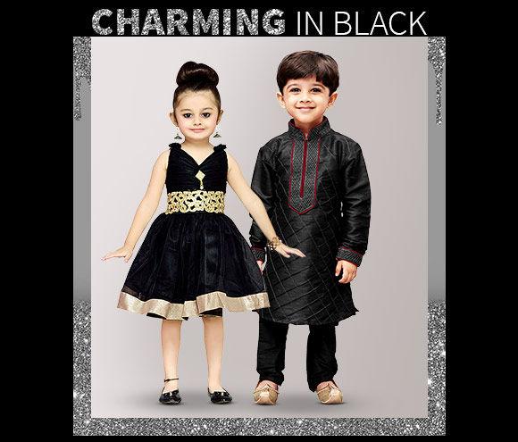 Black Salwar Kurta sets, Kurta Pajama sets for boys and girls. Shop!