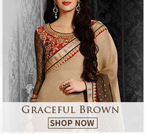 Look amazing in winter wear in Brown. Buy!