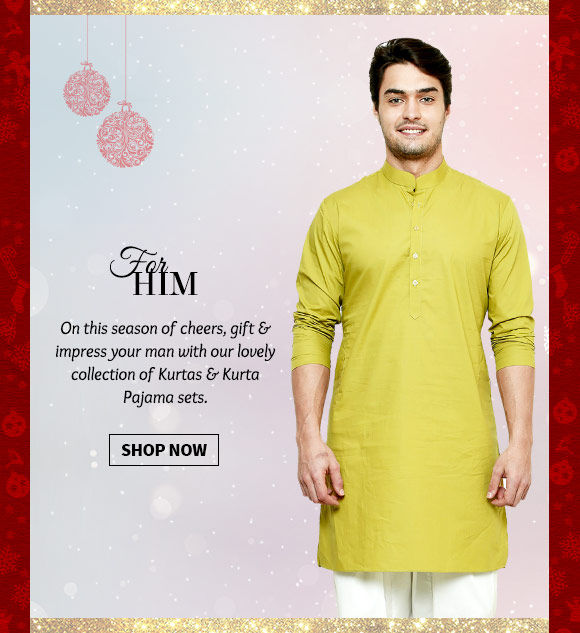 Versatile range of Kurtas & Kurta Pajamas. Buy Now!